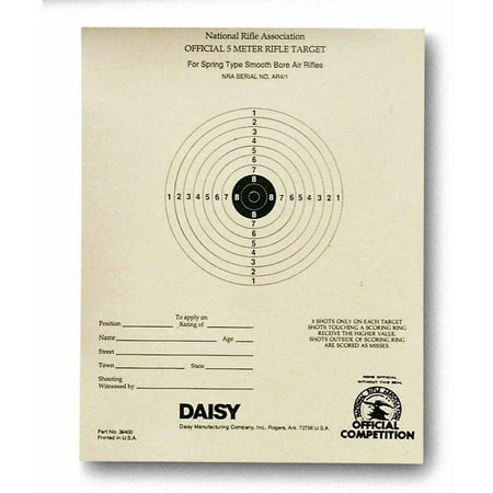 Daisy Daisy Official NRA 5-meter BB Target (Paper Targets For Bb Guns)