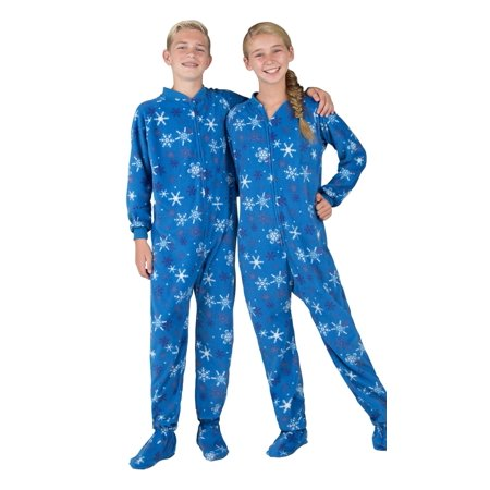 fc6cbb5713 Footed Pajamas - Footed Pajamas - Its A Snow Day Kids Fleece Onesie -  Walmart.com