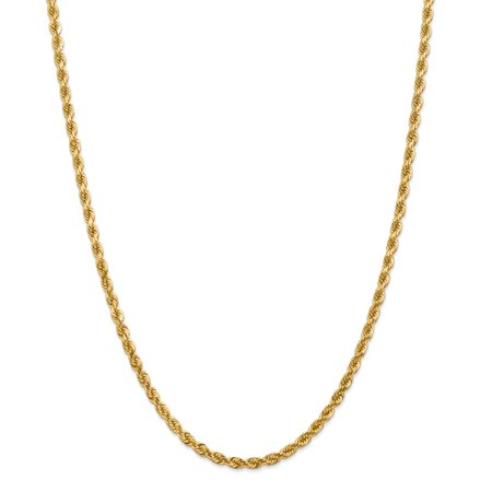 - Solid 14k Yellow Gold Big Heavy 4.00mm Diamond-Cut Rope Chain Necklace 20