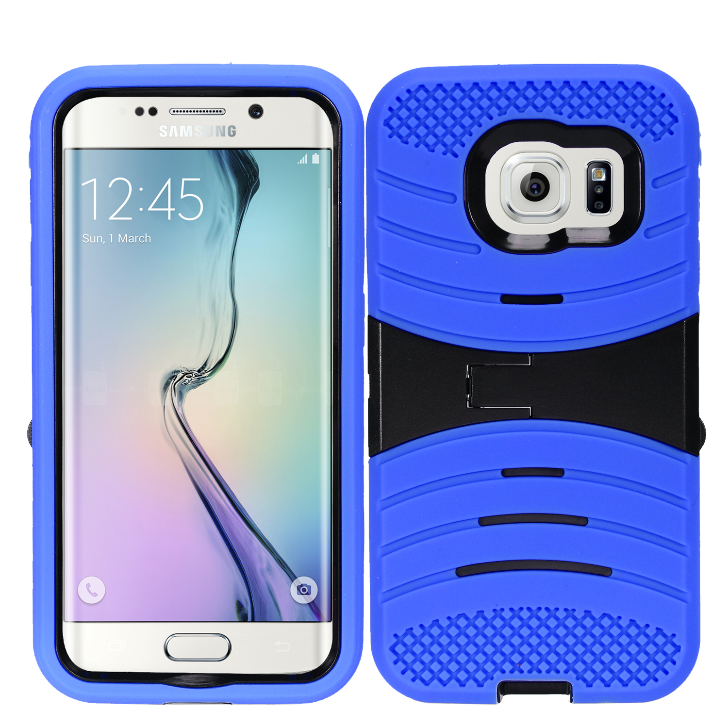 Zizo UCASE Series compatible with Samsung Galaxy S7 Case Hybrid Dual Layered with Built In Kickstand