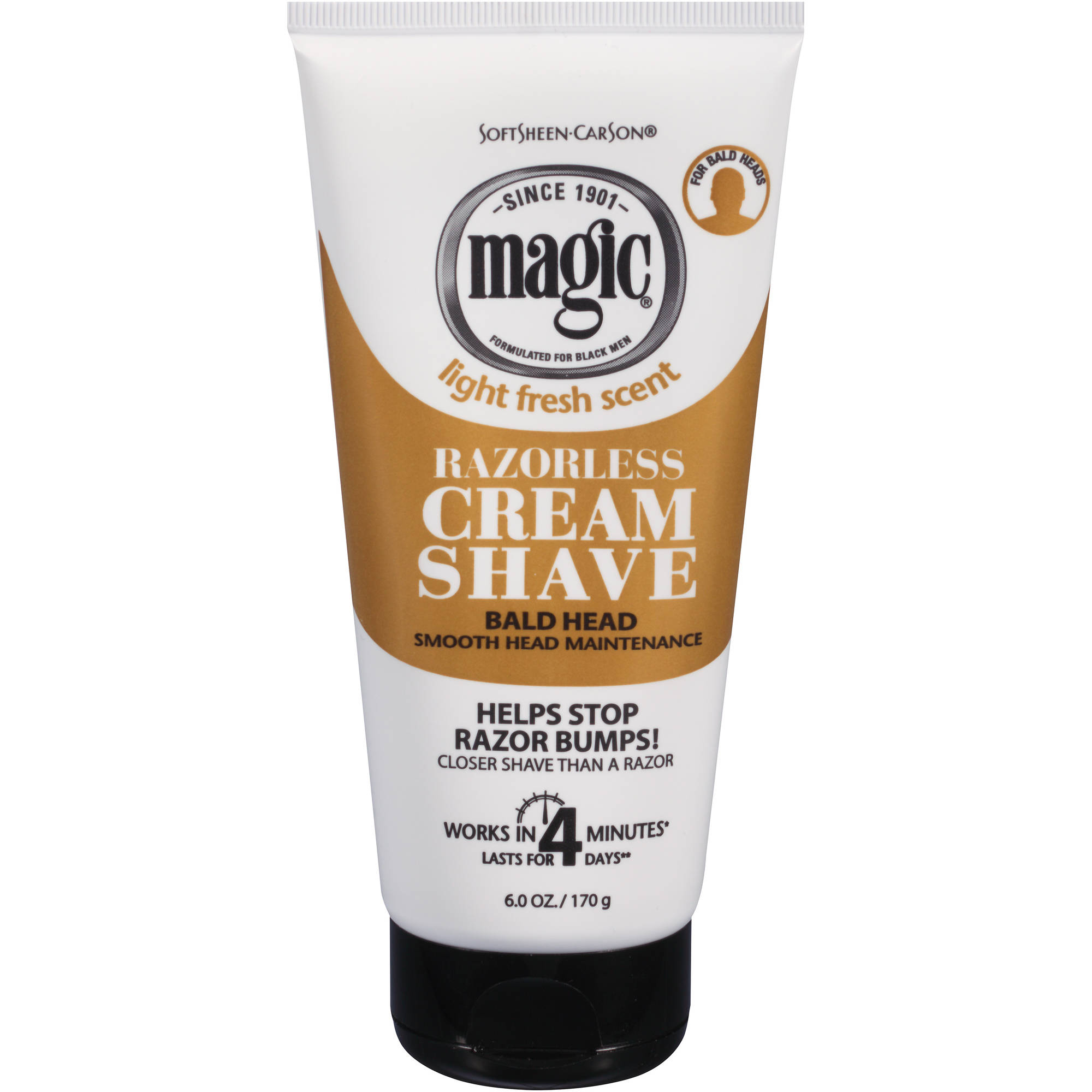 SoftSheen-Carson Magic Razorless Cream Shave, Bald Smooth Head Maintenance, 6 Oz