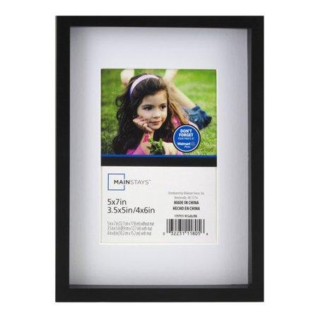 Mainstays 5x7 to 3.5x5 / 4x6 Gallery Frame, Black - Walmart.com