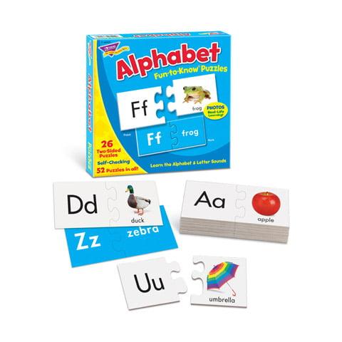 Trend Fun-to-Know Puzzles Alphabet 52 Pieces by Trend Enterprises Inc
