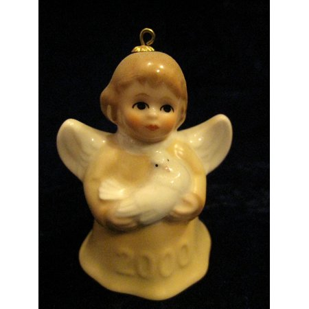 2000 Annual Dated Goebel Angel Bell Ornament - Yellow - 25th Edition, 2000 Annual Dated Goebel Angel Bell Ornament By Annual Angel Bell Ornament - Angel Bell Necklace