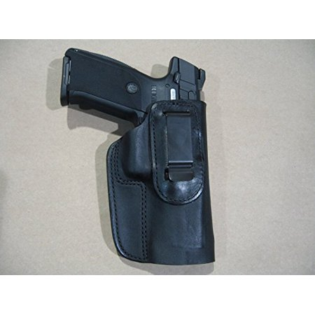 Ruger SR9, SR40, SR45, 9E IWB Leather In Waistband Concealed Carry Holster BLACK RH (Ruger Sr40 Ammo)