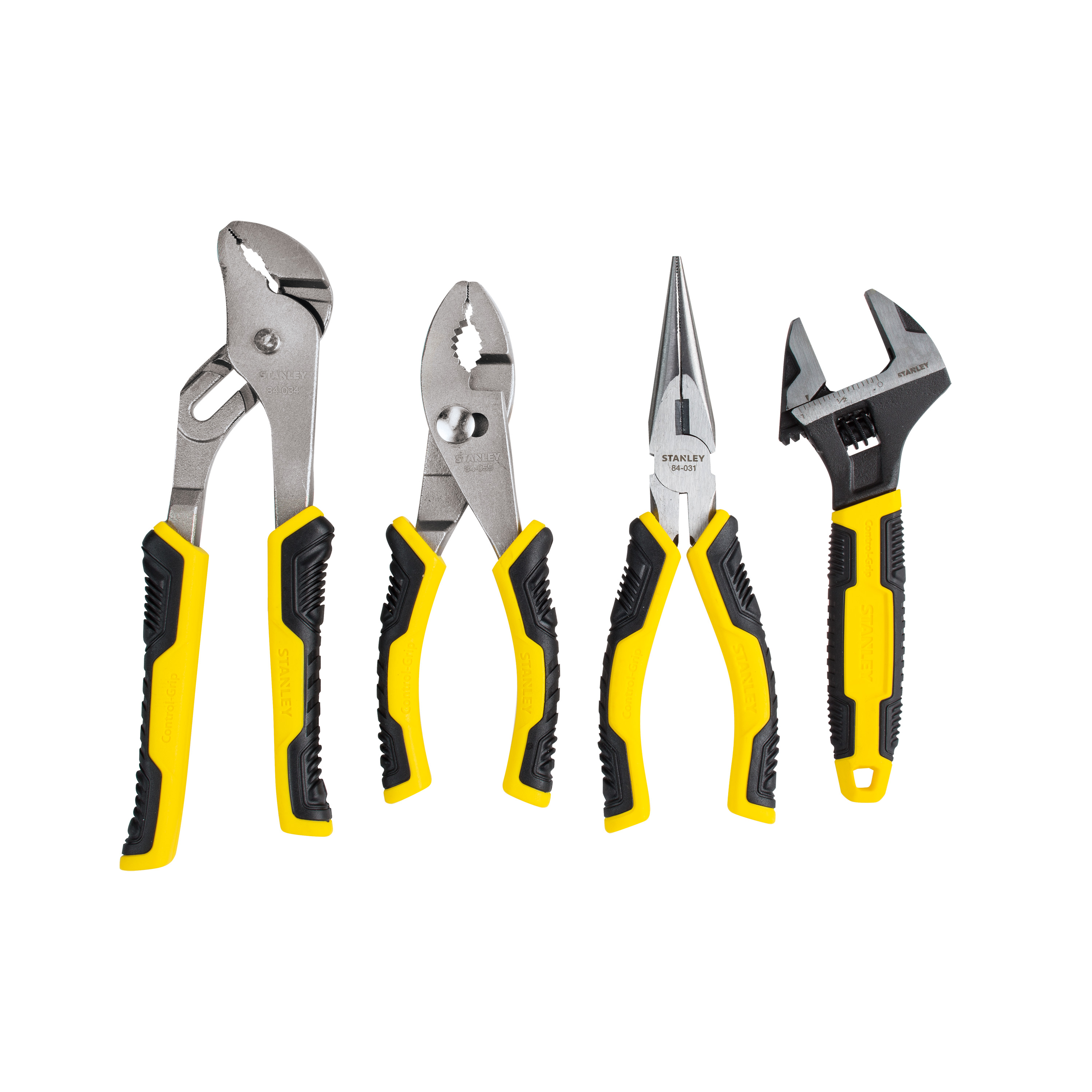STANLEY 84-558 4-Piece Plier and Adjustable Wrench Set by Stanley Black & Decker