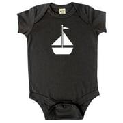 Rocket Bug Baby Bodysuit-Sailboat Turquoise 3-6m