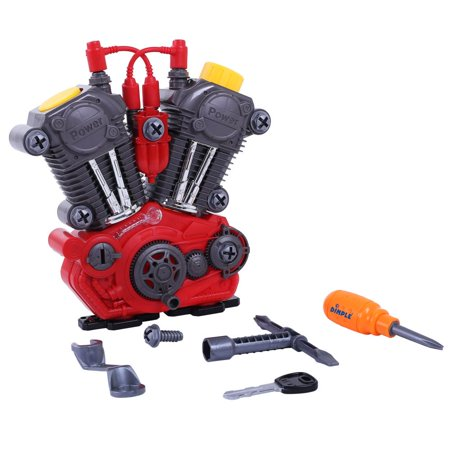 Take Apart Toy Engine And Tool Set for Kids By Dimple – Build Your Own Engine With Set of 20 Tools Great Gift Idea for Children All Age