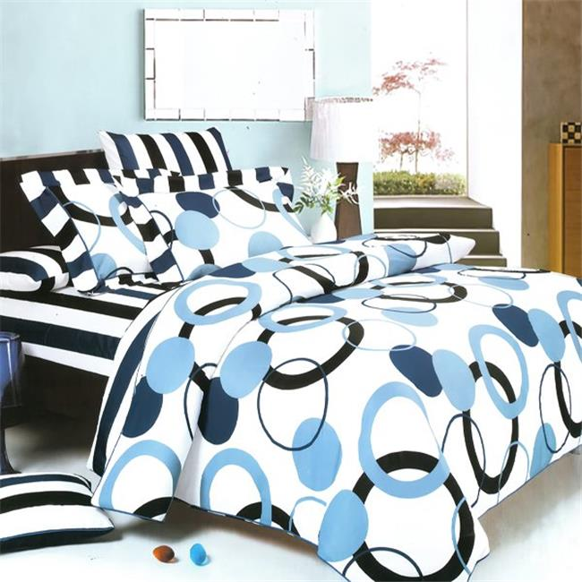 Artistic Blue 3 Piece King Mini Comforter Cover-Duvet Cover Set