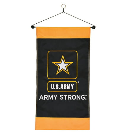 United States Army Strong Logo Vertical Hanging Banner 12 x 24 Inch