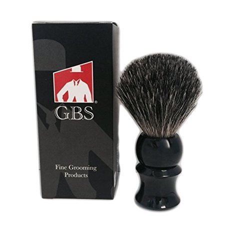 Bristle Shaving Brush (GBS 100% Pure Badger Bristle Shaving Brush Black)
