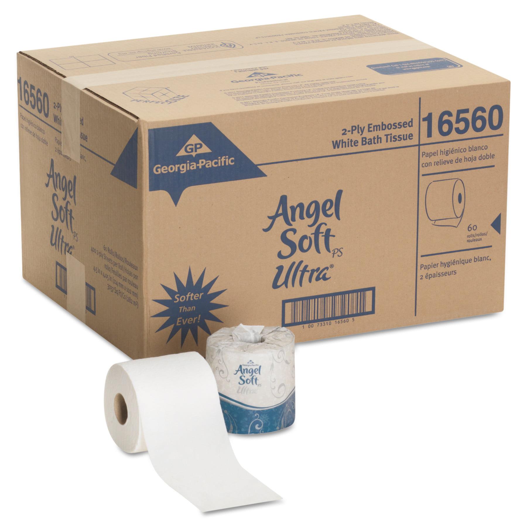 Georgia Pacific Angel Soft Ultra Two Ply White Premium Bathroom Tissue  60  ct   Walmart com. Georgia Pacific Angel Soft Ultra Two Ply White Premium Bathroom