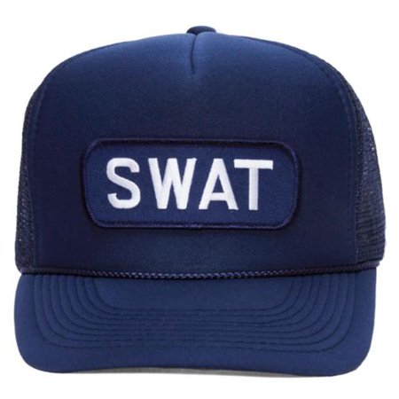 Navy Blue Military Patch Adjustable Trucker Hats - SWAT - Swat Hats