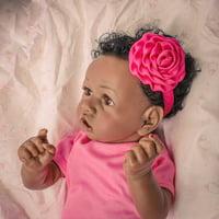 "22""Full Body Lifelike Silicone Reborn Dolls Girl Doll Soft Biracial Baby Doll Birthday Gifts/Christmas Gifts"
