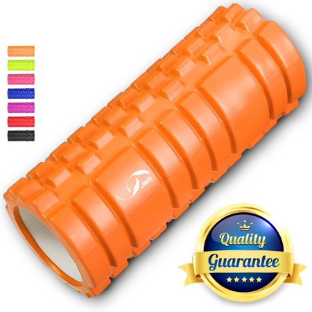 "JBM Foam Roller 13 X 5.5"" Muscle Massage Deep Tissue Roller Back Leg Body Roller help Muscle Stretch Physical Therapy Self Myofascial (Massage Power Roller)"