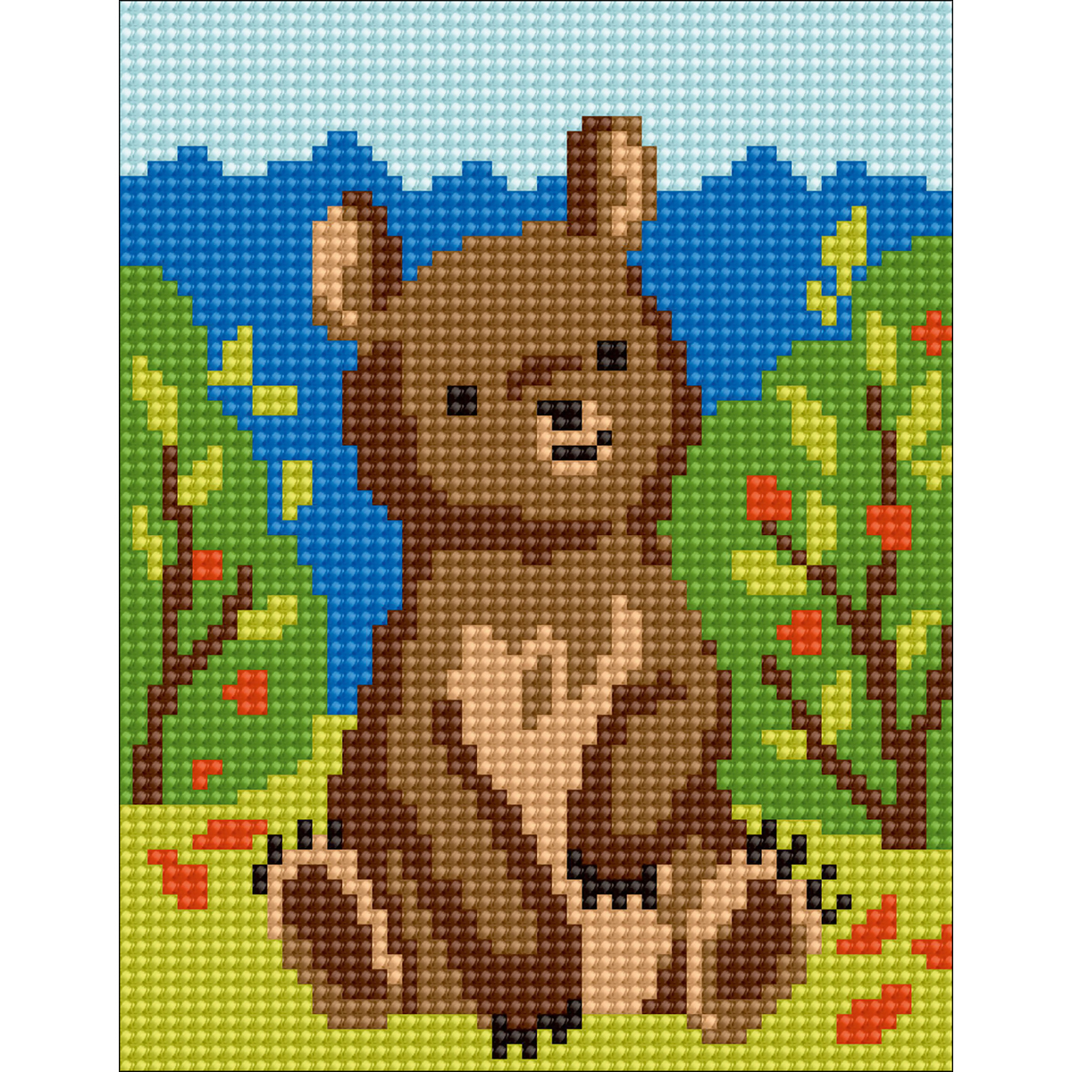 Collection D'Art Stamped Needlepoint Kit 20X25cm-Bear