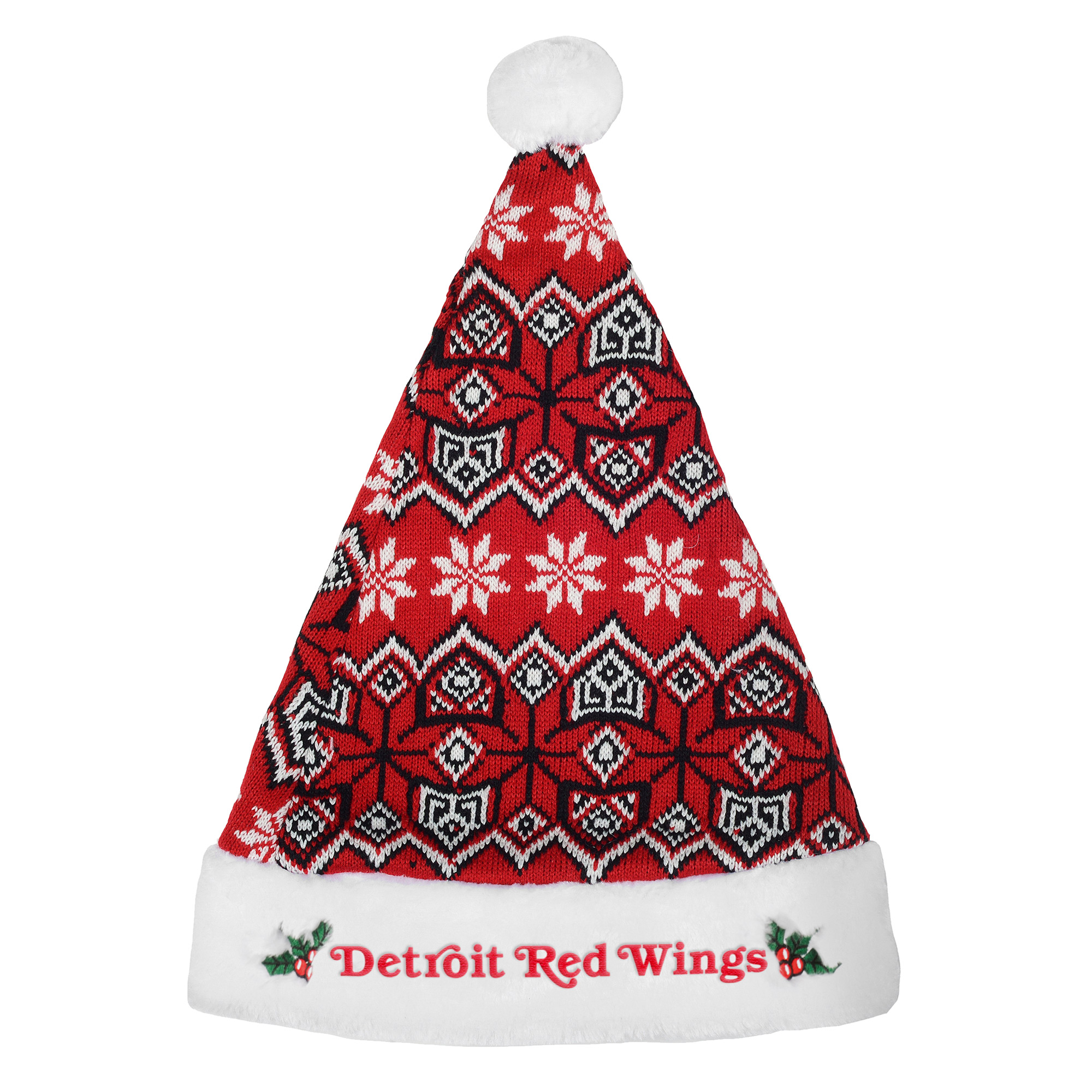 Detroit Red Wings Knit Santa Hat - No Size
