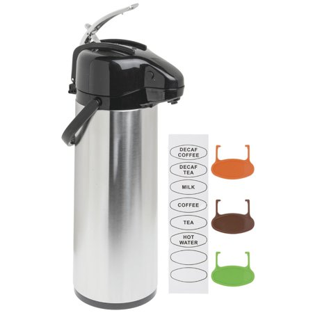 Airpot Coffee Server 3L Stainless Steel Glass-Lined Lever Lid Air Pot