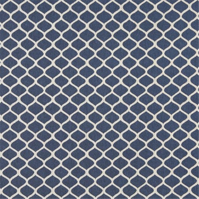 Designer Fabrics K0008E 54 in. Wide Blue And Off White, Modern, Geometric Designer Quality Upholstery Fabric