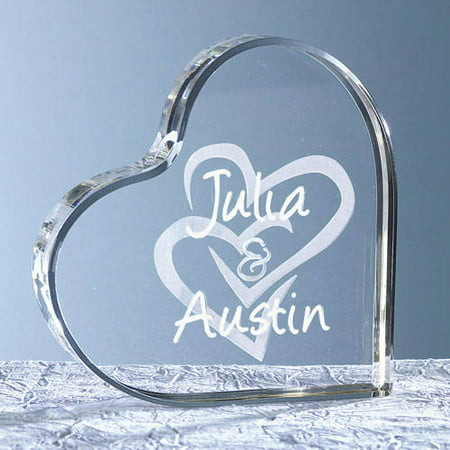 personalized acrylic heart cake topper multiple designs