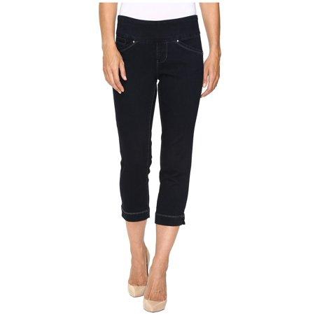Jag Jeans NEW Dark Blue Womens Size 2 Classic-Fit Flat-Front Capri Jeans