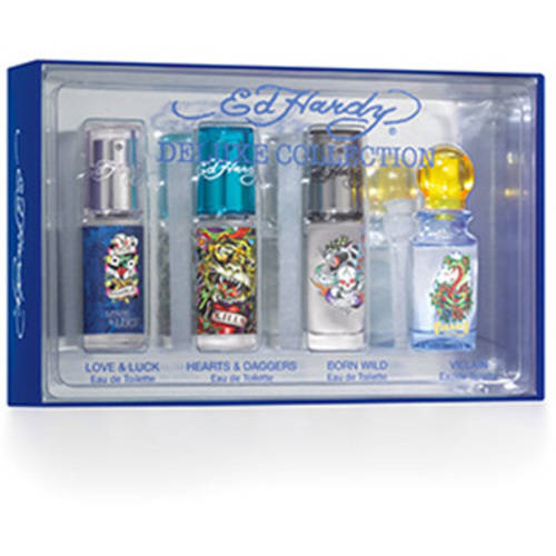 Ed Hardy Mini Fragrance 4-Piece Gift Set for Men
