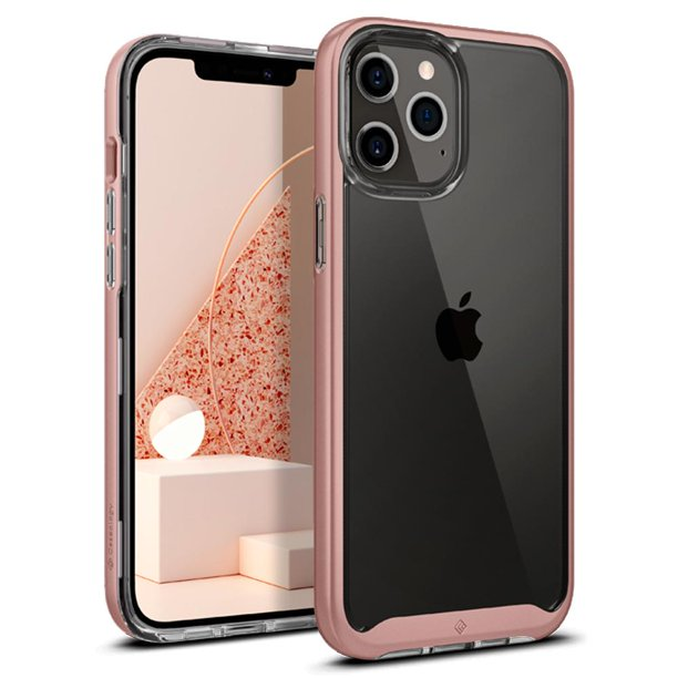 iPhone 12 Pro Max Case, Caseology Skyfall for Apple iPhone 12 Pro Max - Rose Gold