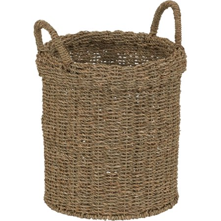 Household Essentials Round Seagrass Basket with 2 Handles ()