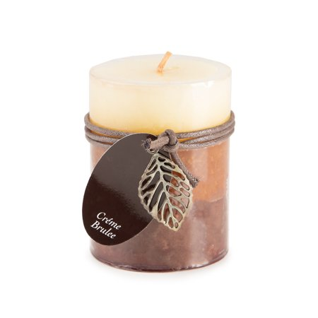 - Dynamic Collections Pillar Candle: Creme Brulee, 3x4 in