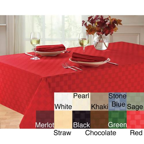 Reflections Microfiber Tablecloth 60x84 Oval Black