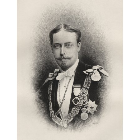 Prince Leopold Duke Of Albany 1853 To 1884 Fourth Son Of Queen Victoria Engraving From The Book The History Of Freemasonry Volume I Published By Thomas C Jack London 1883 PosterPrint