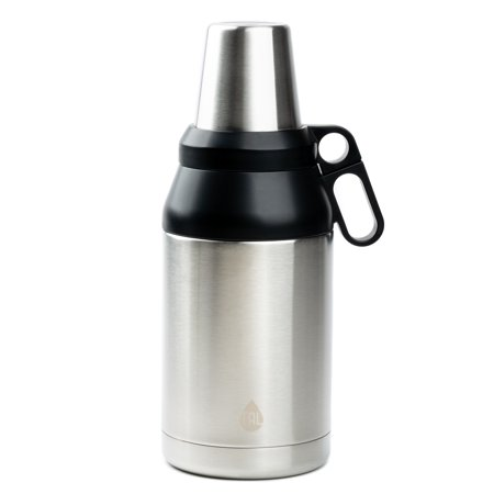 TAL Trek 64 oz Double Wall Insulated Growler and Thermos Stainless Steel Water Bottle
