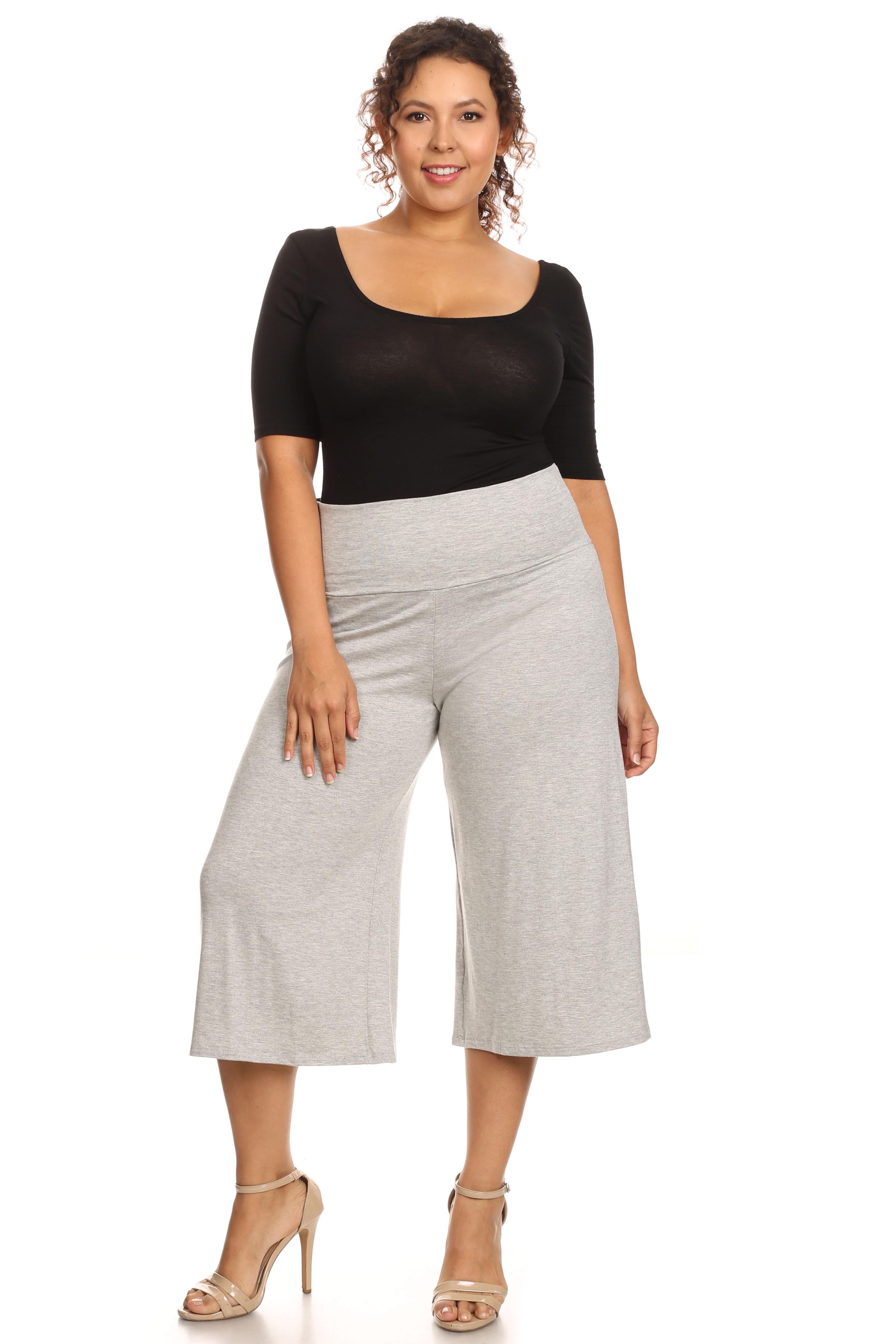 a9c6505c88d28 SHORE TRENDZ - Plus Size Women s Gaucho Pants - Walmart.com