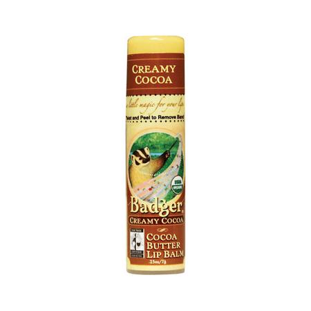 Badger Cocoa Butter Lip Balm - Creamy Cocoa - .25 Oz Badger Balm Baby Balm