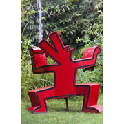 Peel-n-Stick Poster of Keith Haring Dog Artwork Sculpture Red Dog Barking Poster 24x16 Adhesive Sticker Poster Print
