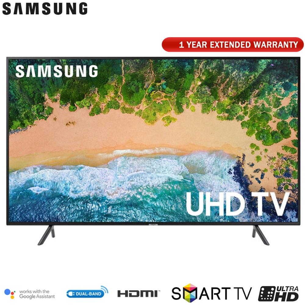 """Samsung 50NU7100 50"""" NU7100 Smart 4K UHD TV (2018) with Extended Warranty (UN50NU7100FXZA)"""