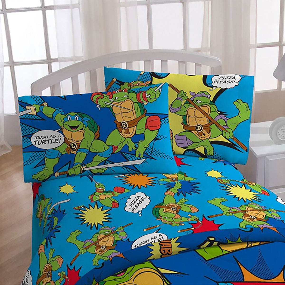 3pc TMNT Twin Bed Sheet Set Team Teenage Mutant Ninja ...