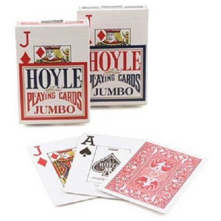 Deck Card Designs - 2 DECKS OF HOYLE DESIGN JUMBO INDEX POKER PLAYING CARDS ONE RED AND ONE BLUE