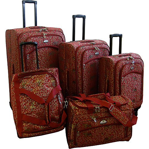American Flyer Luggage Budapest 5 Piece Spinner Set, Metalic Blue, One Size