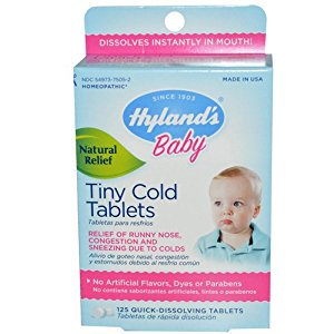 Hylands Homeopathic Baby Tiny Cold Tablets   125 Tablets Hylands Homeopathic Bab