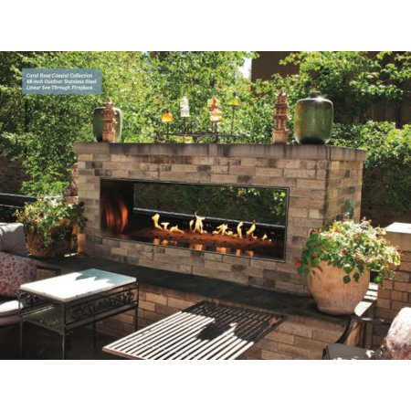 Carol Rose Outdoor Ss See Through 48 Linear Fireplace Lp