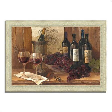 Fleur De Lis Living 'Vintage Wine' Framed Acrylic Painting (Phoenix Fleur De Lis)