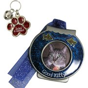 Gloria Duchin Fishbowl Christmas Ornament and Cat Collar Charm Gift Set