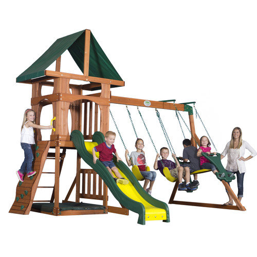 Backyard Discovery Santa Fe Wood Swing Set