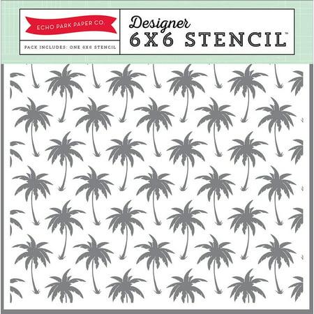 Sp106033 Palm Trees 6X6 Stencil  Echo Park Paper Company Sp106033 Palm Trees 6X6 Stencil By Echo Park Paper Company