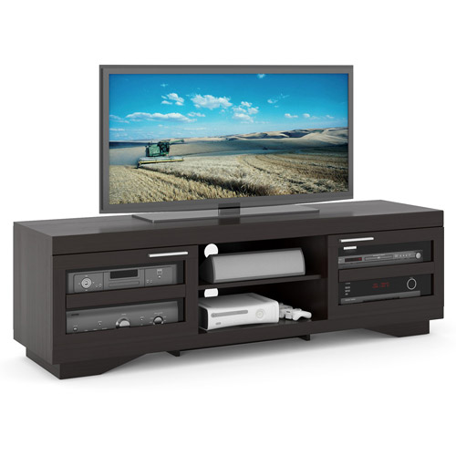 Corliving Granville Wood Veneer Tv Stand For Tvs Up To 80 Walmartcom