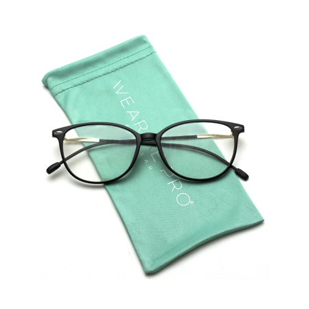 WearMe Pro - Elegant Classic Thin Frame Women Cat Eye Prescription Glasses (Prescription Glasses Sports)