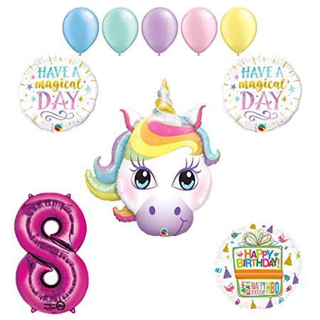 Magical Unicorn 8th Birthday Party Supplies and Balloon - Birthday Jpg