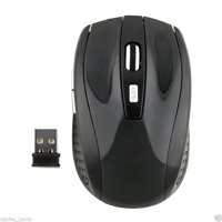 CableVantage 2.4GHz Cordless Wireless Optical USB Mouse Mice 4 Laptop PC Black