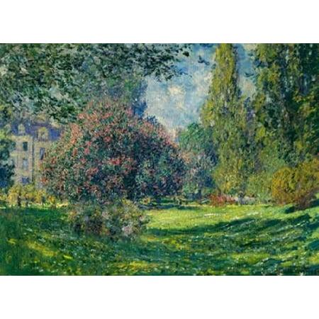 Le Parc Monceau Paris Poster Print by  Claude Monet (Le Monet Halloween)